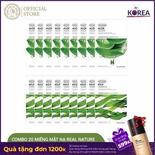 """[Mã COSTFS09 giảm 8% max 50K đơn 350K] Combo 20 Miếng Mặt Nạ Giấy TheFaceShop Real Nature Mung Bean & Green Tea 20Gx20 giá chỉ còn <strong class=""""price"""">30.000.000.000đ</strong>"""