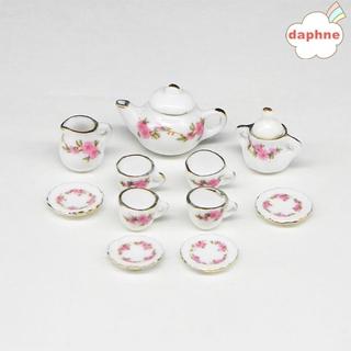 DAPHNE Set 11 Ly Uống Trà Mini Tỉ Lệ 1 / 6 1 / 12 Trang Trí Nhà Búp Bê