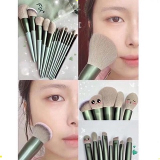 Cọ trang điểm Fix Hồng 13 Cây,bộ Cọ makeup Trang Điểm cá nhân kèm túi đựng MEL thumbnail