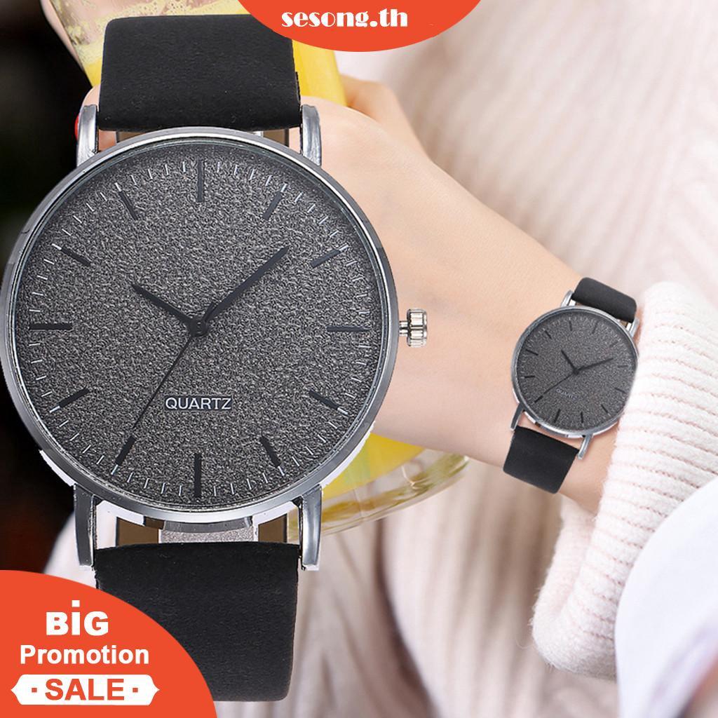 [Lowest price] CODนาฬิกาข้อมือแฟชั่นสายหนังหรูหราสำหรับผู้หญิง