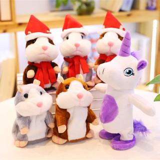 ✨Babyfashione✨ Lovely Talking Hamster Plush Toy Sound Record Speaking Hamster Talking Toys