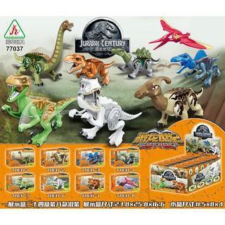 Đồ chơi lắp ráp lego khủng long Jurassic World 77037 trọn bộ 8 hộp.