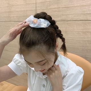 Dây buộc tóc phối ren hoa xinh xắn đáng yêu 6
