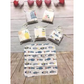 Set 10 Khăn sữa Aden túi lưới (set 1 túi 10 hình)