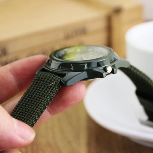 Đồng hồ thời trang nam nữ Gemius Ermy GE01 quân đội, dây dù siêu tốt, đeo êm tay