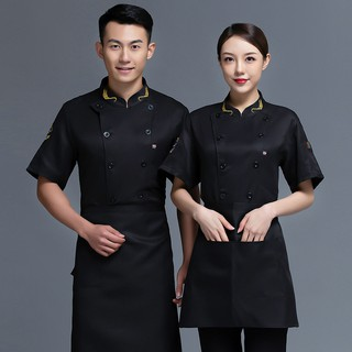 Áo đầu bếp ngắn tay chuyên nghiệp dành cho nam