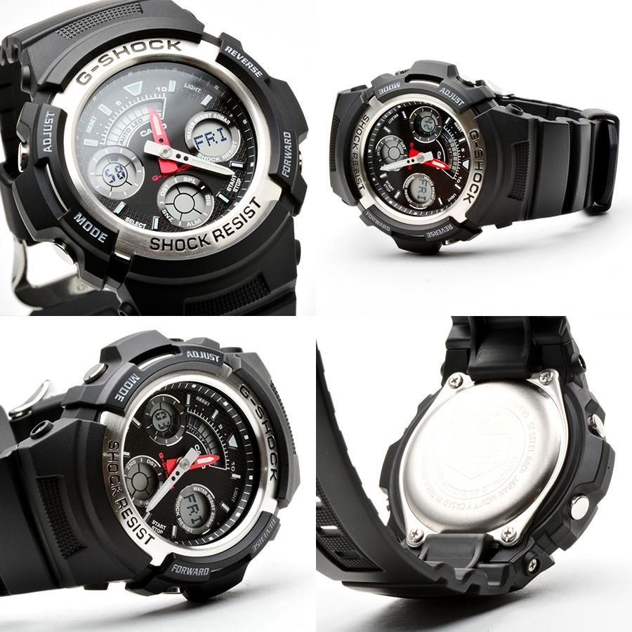 Đồng hồ nam dây nhựa G-SHOCK Casio chính hãng Anh Khuê AW-590-1ADR