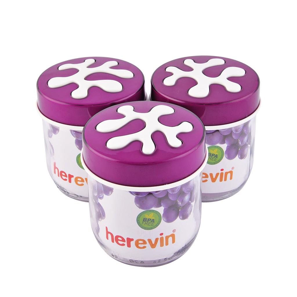 Hũ thuỷ tinh trơn Herevin 425ml - 135357 (Nhiều màu)