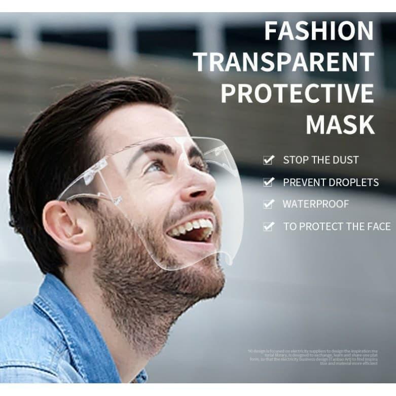 Mắt kính bảo hộ trong suốt chống bụi, chống giọt bắn full mặt bảo vệ mắt Face Shield, Kính chắn...