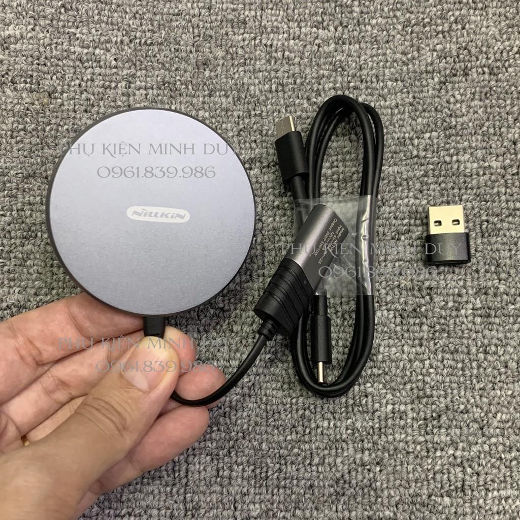[Mã 267ELSALE hoàn 7% đơn 300K] Sạc không dây từ tính Nillkin MagSlim cho Iphone 12 ☘️