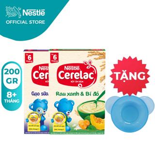 [Tặng Chén Ăn Dặm] Combo 2 Hộp Bột Ăn Dặm Nestlé Cerelac Gạo Sữa Và Rau Xanh 200g Hộp thumbnail