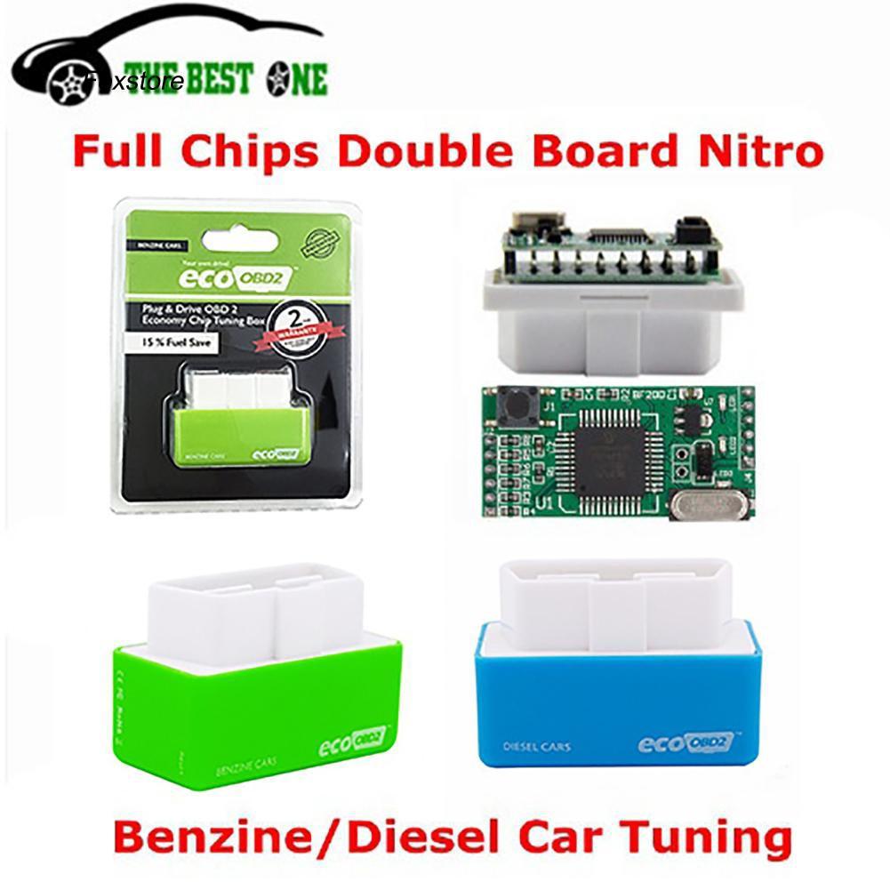 FXTE_EcoOBD2 Economy Car Vehicle Chip Tuning Box Gas Diesel Plug Drive Fuel Saver