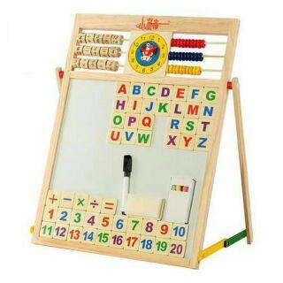 Bảng học thông minh Education Board bảng từ hai mặt kèm bảng chữ cái