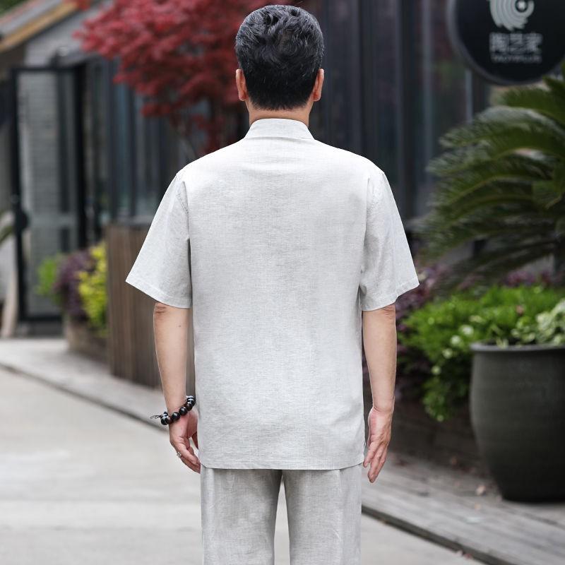 Áo tay ngắn thời trang mùa hè cho đàn ông trung niên