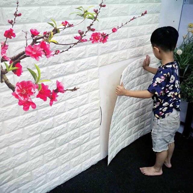 Miếng xốp dán tường giả gạch 3d