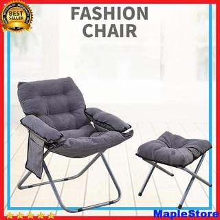 Ghế gấp sofa lười kèm ghế giúp thư giãn phù hợp mọi lứa tuổi có thể gấp gọn thumbnail