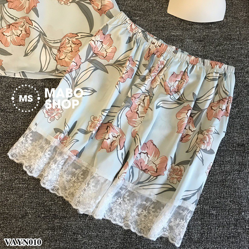 (Mẫu mới 2019) Bộ đồ ngủ lụa VAYN010 cao cấp