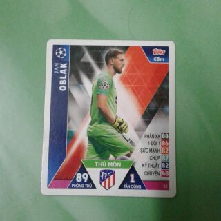 Thẻ poca (topps match attax) Jan Oblak