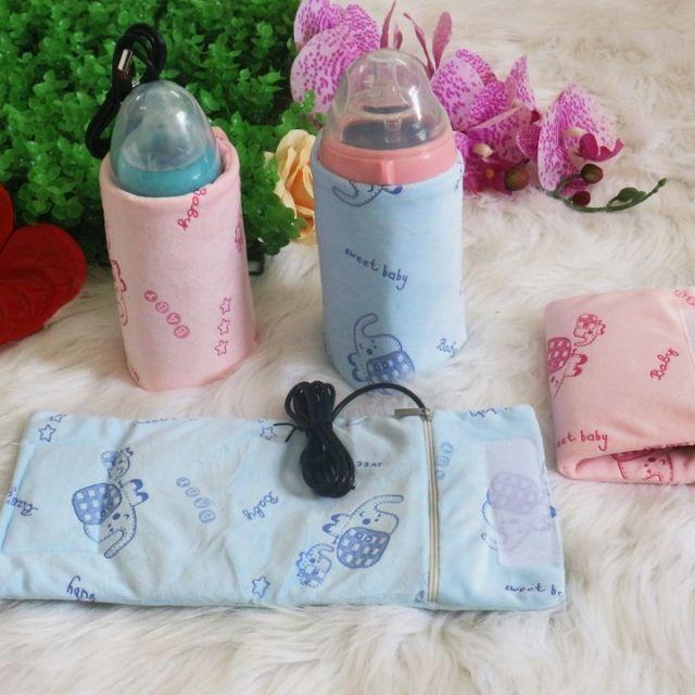 [Mã 267FMCGSALE giảm 8% đơn 500K] Túi ủ bình sữa cho bé - sạc usb phù hợp với các loại bình