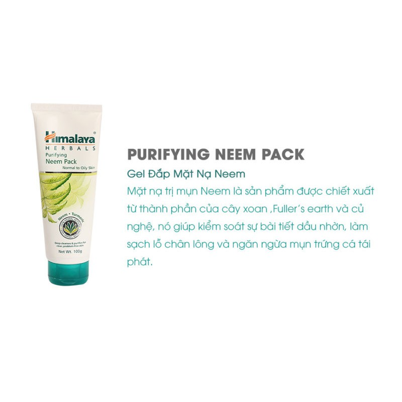 Hình ảnh Combo diệt sạch mụn Himalaya Neem Travel Kit Neem Face Wash 15ml + Neem Face Pack 15ml-2