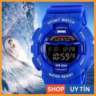 [Hàng Cao Cấp] Đồng hồ thể thao unisex Skmei chính hãng L179480 dây cao su xanh so hot