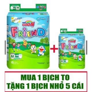 (Cộng 05 miếng) Tã Quần Dán Goon Friend S62 M58 L48 XL42 XXL34 thumbnail