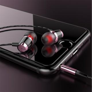 Tai nghe có dây cao cấp L8 có mic, dây siêu bền, khuyến mãi tặng hộp đựng + nút tai