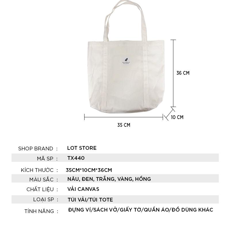 Túi vải đựng đồ canvas đeo chéo thời trang giá rẻ TX440