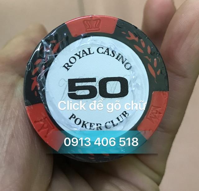 PHỈNH ROYAL CASINO POKER CLUB 500 CHIP HÀNG CAO CẤP NHẬP KHẨU