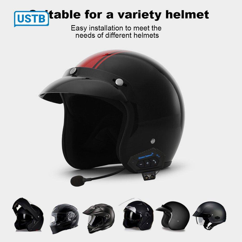 Tai nghe Bluetooth CAD BT12 dùng gắn mũ bảo hiểm đi xe máy tiện dụng