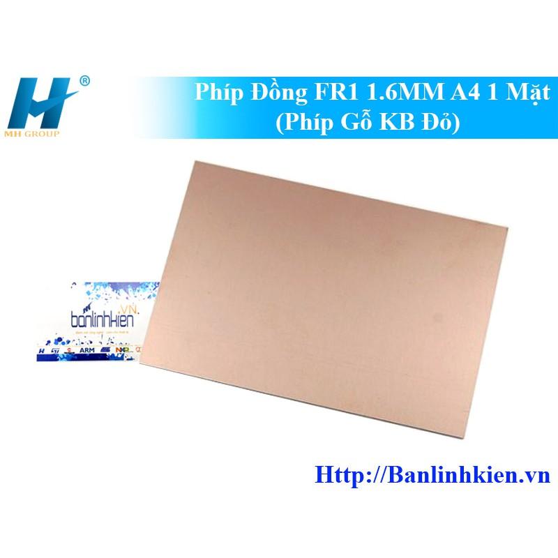 [Siêu rẻ] Phíp Đồng làm mạch FR1 1.6MM A4 1 Mặt (Phíp Gỗ Đỏ)