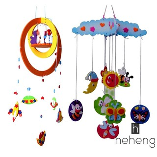 ❤READY DIY Handmade EVA Craft Toy kits Windbell Hangings Stickers Educational Toys [NF]