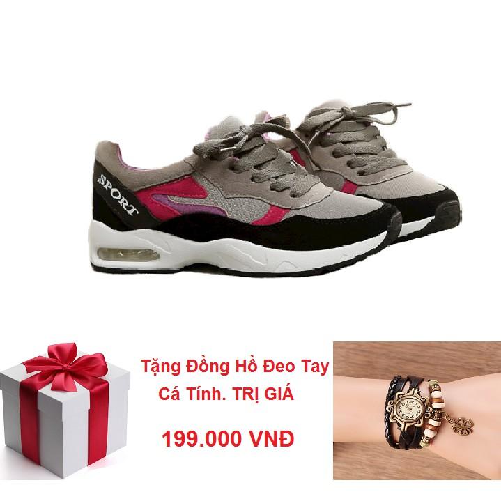 Giày Sneaker Nữ Hàn Quốc PASSO GSP028 Tặng Kèm Đồng Hồ Đeo Tay Cá Tính