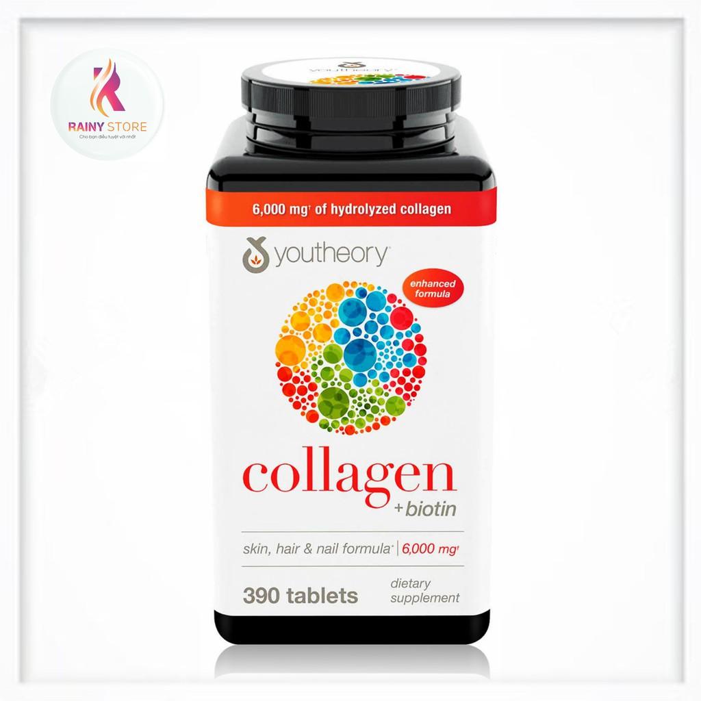 Viên Uống Youtheory Collagen + Biotin 390 Viên Chính Hãng Của Mỹ
