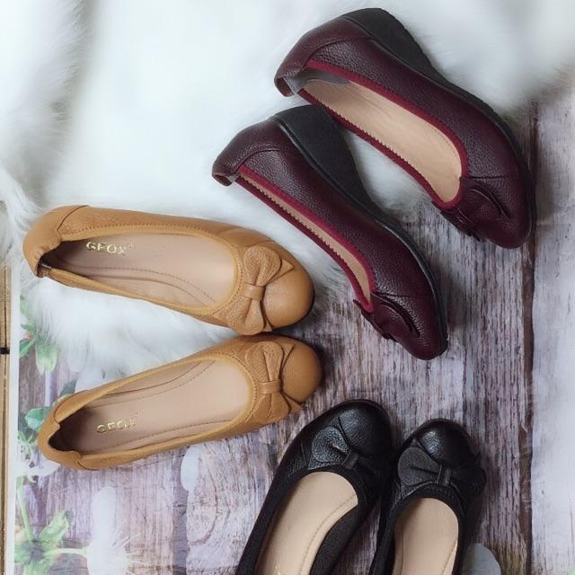 Giày cao gót [BÁN CHẠY- RẺ NHẤT] giày búp bê đế xuồng cao 5cm, chất da bò cực êm xinh xắn