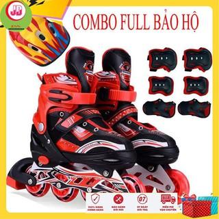 [ HÀNG CHÍNH HÃNG ] Combo giày patin phát sáng + bảo hộ patin( mũ+phụ kiện bảo hộ đủ bộ) thumbnail
