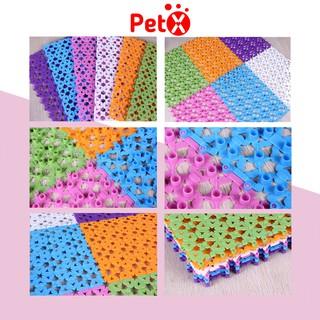Tấm lót sàn cho thú cưng PetX bằng nhựa nhiều màu bằng nhựa PVC 20x30cm thumbnail