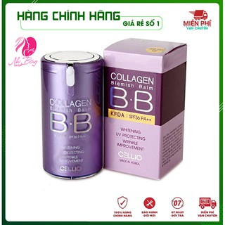 [Hàng Chính Hãng] Kem nền trang điểm chống nắng BB Cream Collagen Cellio SPF 40 PA++Hàn Quốc giúp da trắng sáng mịn màng thumbnail