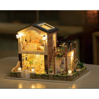 Mô hình nhà gỗ DIY Biệt thự vùng ngoại ô