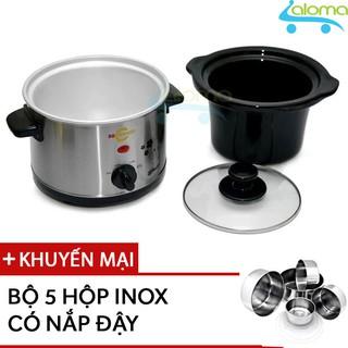 Nồi nấu chậm hầm kho nấu cháo dinh dưỡng 1.5 lít BBcooker BS15 - Tặng 5 bộ Inox có nắp thumbnail