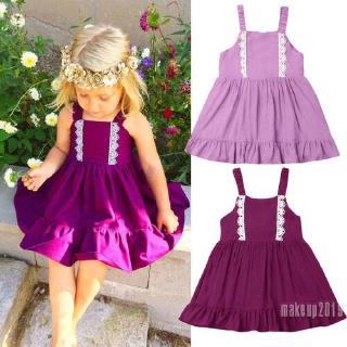 Mu♫-Sweet Toddler Baby Girl Sleeveless Tutu Dress Party Princess Dresses Sundress
