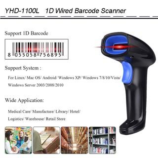 Máy Quét Mã Vạch Cầm Tay YHD-1100L 1D Đơn Tia Laser 1D có dây kết nối Máy tính
