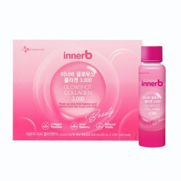 Hộp 6 Chai Nước Uống Bổ Sung Collagen Innerb Glowshot Collagen 50mlx6