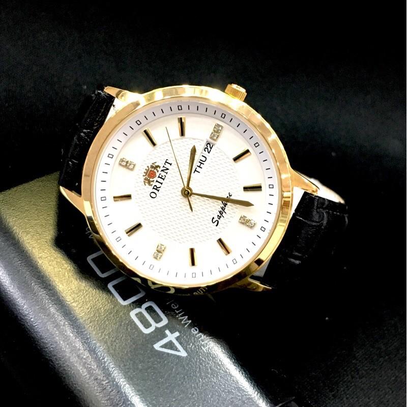 Đồng hồ nam orient dây da đẳng cấp ( tặng quà hot )