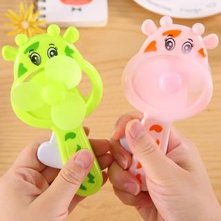 Summer Children Cow Hand Pressure Fans Cute Cartoon Funny Novelty Toys