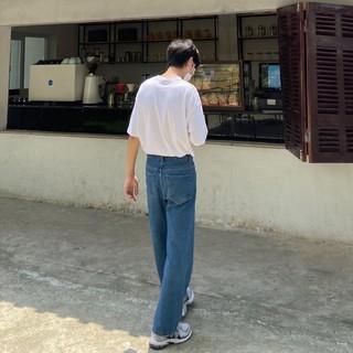 [Mã giảm 5% tối đa 15k cho Follower mới] Quần jeans form rộng phong cách đơn giản (Urbane Studios)