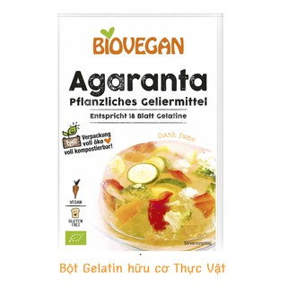 Gelatin - tinh bột bắp - bột làm kem - bột rau câu hữu cơ Biovega Đức thumbnail