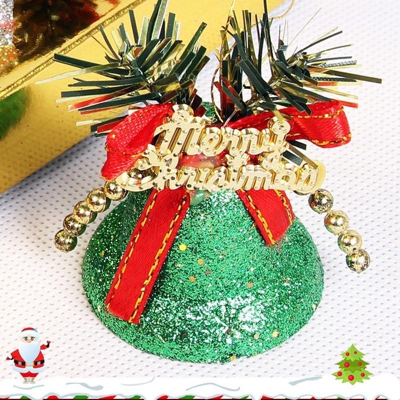 Set 6 Chuông Nhựa Trang Trí Giáng Sinh 5cm