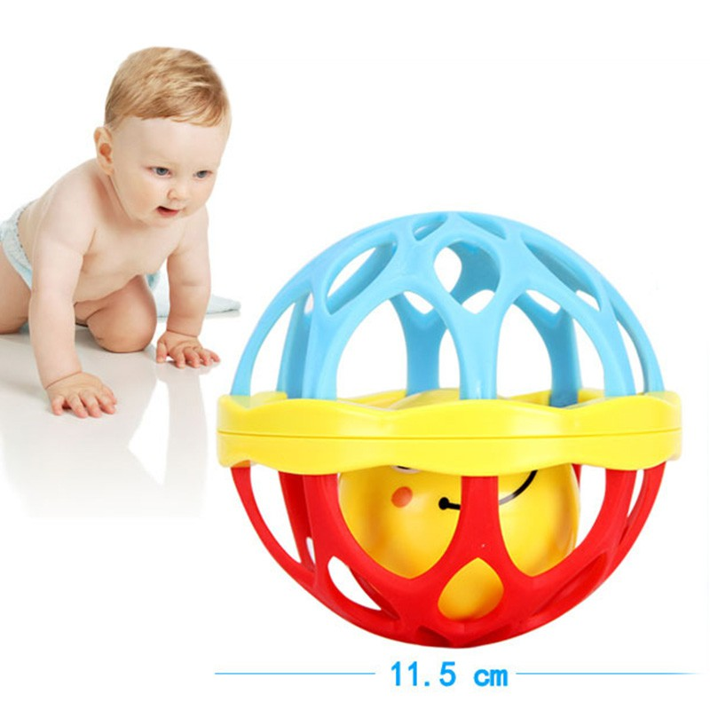 Soft Plastic Baby Grasping Bell Ball Toys Rattles Sound Educational Rolling Balls Infant Toddler Teether Toy