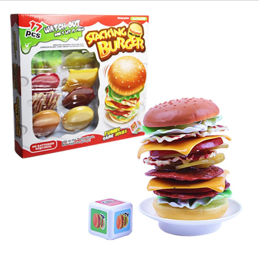 Simulation Food Toys Hamburger Stacked Layers Balance Board Game Kids Gift